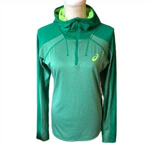 ASICS Green Athletic Hoodie Pullover